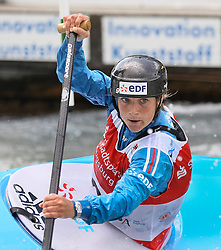 28.02.2013, Eiskanal, Augsburg, GER, ICF Kanuslalom Weltcup, 2. Rennen, im Bild Caroline LOIR (FRA), C1, Canadier Einer, // during 2nd race of ICF Canoe Slalom World Cup at the ice track, Augsburg, Germany on 2013/06/28. EXPA Pictures © 2013, PhotoCredit: EXPA/ Eibner/ Klaus Rainer Krieger<br /> <br /> ***** ATTENTION - OUT OF GER *****