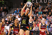 Magic goal shoot Lenize Potgieter takes a pass during the ANZ Premiership netball match - Magic v Tactix played at Claudelands Arena, Hamilton, New Zealand on 30 July 2018.<br /> <br /> Copyright photo: &copy; Bruce Lim / www.photosport.nz