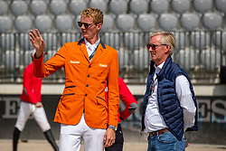 SCHUTTERT Frank (NED), LANSINK Jos (NED)<br /> Rotterdam - Europameisterschaft Dressur, Springen und Para-Dressur 2019<br /> Parcoursbesichtigung<br /> Longines FEI Jumping European Championship - 1st part - speed competition against the clock<br /> 1. Runde Zeitspringen<br /> 21. August 2019<br /> © www.sportfotos-lafrentz.de/Stefan Lafrentz
