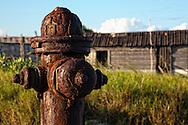 Rusty fire hydrant in Punta de Cartas, Pinar del Rio, Cuba.