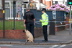 © Licensed to London News Pictures. 16/06/2013. Birmingham, UK. The scene earlier today in Washwood Heath Road, Ward End, Birmingham, where three men and a Policeman were stabbed in a Mosque. Photo credit : Dave Warren/LNP