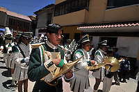 Parade passing through the streets of Potosi, Bolivia