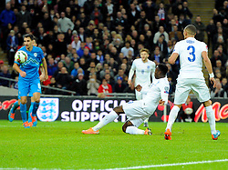 Danny Welbeck of England (Arsenal) scores his first goal of the game  - Photo mandatory by-line: Joe Meredith/JMP - Mobile: 07966 386802 - 15/11/2014 - SPORT - Football - London - Wembley - England v Slovenia - EURO 2016 Qualifier