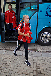 CARDIFF, WALES - Friday, August 19, 2016: Wales' Charlie Estcourt arrives at Rodney Parade ahead of the international friendly match against Republic of Ireland at Rodney Parade. (Pic by David Rawcliffe/Propaganda)