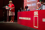 Rome sep 18th 2015, CGIL union organization conference. In the picture the leader Susanna Camusso