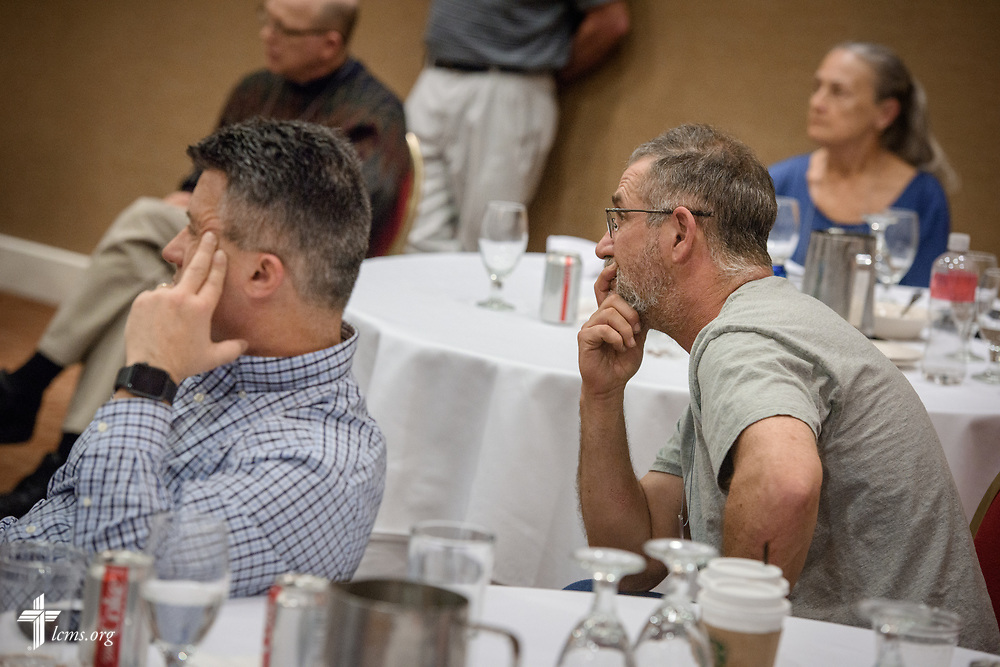 Attendees at the Operation Barnabas conference listen on Thursday, March 15, 2018, at the Hilton St. Louis Airport hotel in St. Louis. LCMS Communications/Erik M. Lunsford