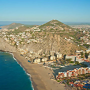 Aerial view of Solmar beach. Cabo San Lucas, BCS. Mexico.