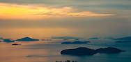 Japan Sunset at Seto Inland Sea islands