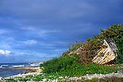 Abandoned boat, Cayman Brac, Cayman Islands, British West Indies,
