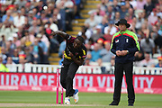 Somersets Jerome Taylor during the Vitality T20 Finals Day semi final 2018 match between Sussex Sharks and Somerset at Edgbaston, Birmingham, United Kingdom on 15 September 2018.