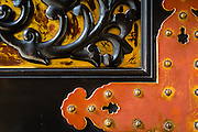 A detail of a temple door in Nikko