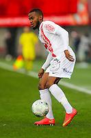 Wilfried MOIMBE  - 20.12.2014 - Brest / Ajaccio - 18eme journee de Ligue 2 -<br /> Photo : Vincent Michel / Icon Sport