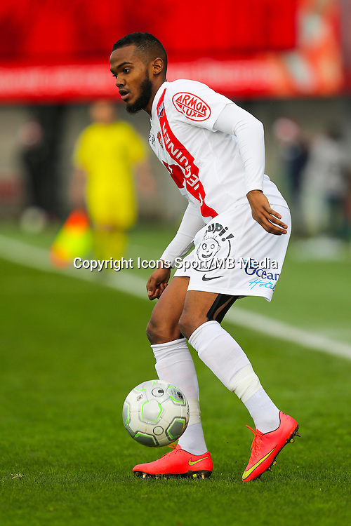 Wilfried MOIMBE  - 20.12.2014 - Brest / Ajaccio - 18eme journee de Ligue 2 -<br /> Photo : Vincent Michel / Icon Sport