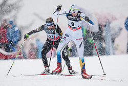Sara Lindborg of Sweden during women 9 km pursue race at the cross country Tour de Ski 2014 of the FIS cross country World cup competition on January 5th, 2014 in Alpe Cermis, Val di Fiemme, Italy. (Photo by Urban Urbanc / Sportida)