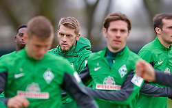 28.03.2014, Trainingsgelaende, Bremen, GER, 1. FBL, Werder Bremen, Training, im Bild Aaron Hunt (Bremen #14) im Fokus // Aaron Hunt (Bremen #14) im Fokus during a Trainingssession of German Bundesliga Club SV Werder Bremen at the Trainingsgelaende in Bremen, Germany on 2014/03/28. EXPA Pictures © 2014, PhotoCredit: EXPA/ Andreas Gumz<br /> <br /> *****ATTENTION - OUT of GER*****