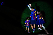 09 Luis Suarez from Uruguay of FC Barcelona with his children during the Andres Iniesta farewell at the end of the La Liga football match between FC Barcelona and Real Sociedad on May 20, 2018 at Camp Nou stadium in Barcelona, Spain - Photo Xavier Bonilla / Spain ProSportsImages / DPPI / ProSportsImages / DPPI
