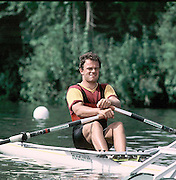 Henley on Thames, United Kingdom. Vaclav Chulupa. CZE M1X competing in a round of the FISA World Cup/Diamond Sculls, at Henley Royal Regatta in 1993.[Mandatory Credit Peter Spurrier/Intersport Images]