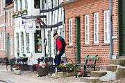 Selhunden Restaurant (Saelhunden) in Skibbroen in medieval Ribe centre, South Jutland, Denmark
