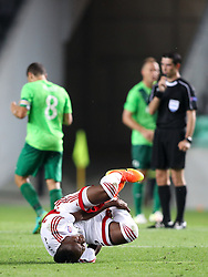 Christopher Udeh of AS Trencin during 1st Leg football match between NK Olimpija Ljubljana (SLO) and FK AS Trencin (SVK) in Second Qualifying Round of UEFA Champions League 2016/17, on July 13, 2016 in SRC Stozice, Ljubljana, Slovenia. Photo by Morgan Kristan / Sportida