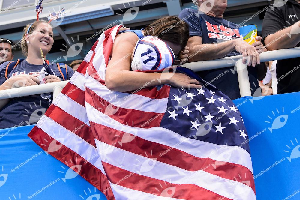 Celebration USA Gold Medal <br /> FISCHER Mackenzie <br /> Rio de Janeiro 19-08-2016 Olympic Aquatics Stadium  - Water Polo <br /> USA - ITALY Final <br /> Foto Andrea Staccioli/Deepbluemedia/Insidefoto