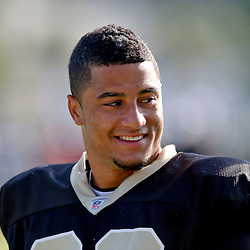Jul 29, 2013; Metairie, LA, USA; New Orleans Saints strong safety Kenny Vaccaro (32) during a morning training camp practice at the team facility.  Mandatory Credit: Derick E. Hingle-USA TODAY Sports