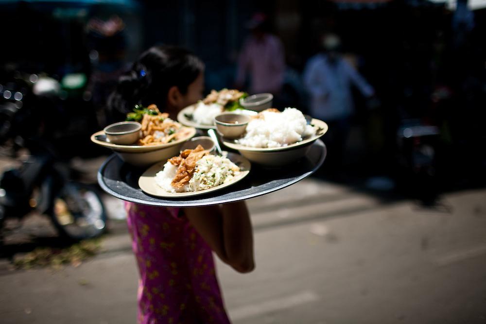 tasty street food  in saigon's chinatown.