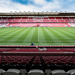 Riverside pitch in great condition pre match. Middlesborough v Manchester United, Barclays English Premier League, 19th March 2017. (c) Paul Cram | SportPix