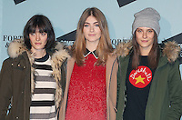 Sam Rollinson, Eve Delf & Charlotte Wiggins, SKATE at Somerset House with Fortnum & Mason, London UK, 16 November 2016, Photo by Brett D. Cove
