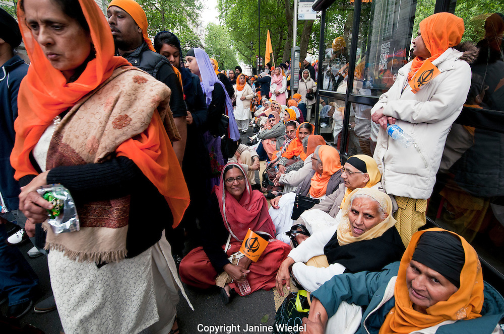 Around 15,000 Kalistan Sikhs came to London to remember the 1984 Massacre when thousands were killed during attack on Golden Temple in Amritsar, Punjab India. June 2013