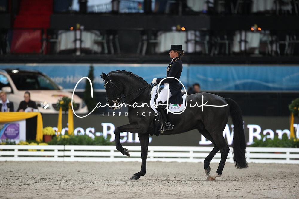 Schneider Dorothee, (GER), Ullrich Equine's St Emilion<br /> Grand Prix Dressage<br /> Stuttgart - German Masters 2015<br /> &copy; Hippo Foto - Stefan Lafrentz