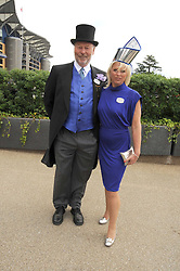 CHRIS WRIGHT and his wife JANICE at the ist day of the 2008 Royal Ascot racing festival on 17th June 2008.<br />