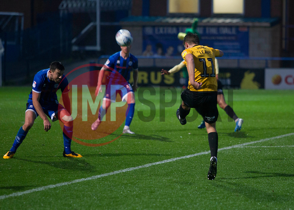 Luke Leahy of Bristol Rovers has a shot at goal - Mandatory by-line: Jack Phillips/JMP - 02/11/2019 - FOOTBALL - Crown Oil Arena - Rochdale, England - Rochdale v Bristol Rovers - English Football League One