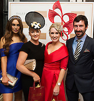 30/07/2015 report free :   Roz Purcell, Deirdre Travers (runner up)Tara Mc Grath, Tuam Co. Galway Winner at the 4 star Hotel Meyrick's Most Stylish Lady competition, and John Faller Faller's  for Ladies Day Galway Race week 2015, Judges were by leading Irish Model Rozanna Purcell,  Mandy Maher Catwalk Models and Mary Lee , Model The winners received an amazing €2,000 prize package from Fallers of Galway . Photo:Andrew Downes, xposure
