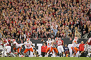 Clemson Tigers quarterback Deshaun Watson (4) delivers a pass in the first half of the National Championship game at Raymond James Stadium in Tampa, Monday, January 9, 2017.
