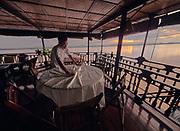 Laos, Champasak province. Vat Phou Cruise. Sunrise at Don Khong.