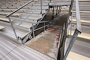 Ramps without skid protection in stadium at North Forest High School, February 23, 2015.