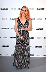 Billie Piper with the Shiseido Group Theatre Actress Award in the press room at the Glamour Women of the Year Awards 2017, Berkeley Square Gardens, London.