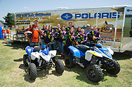 ATV Rider Safety Training in Purcell at the Oklahoma Cooperative Extension service office. 4-H members received free rider safety instructions with actual hands on experience using the recommended safety equipment.