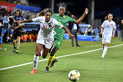 6?10????????????L?????????????????????.Ashley Lawrence (L) of Canada vies with Yvonne Leuko (R) of Cameroon during..???????????????2019?6?11?.?????????——E??????????????.?????????????2019??????????E???????????1?0??????.?????????..(SP)FRANCE-RENNES-2019 FIFA WOMEN'S WORLD CUP-GROUP E-CANADA VS CAMEROON..(190611) -- MONTPELLIER, June 11, 2019  the group E match between Canada and Cameroon at the 2019 FIFA Women's World Cup in Montpellier, France on June 10, 2019. Canada won 1-0. (Credit Image: © Xinhua via ZUMA Wire)