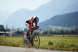 Martina Ritter (AUT) at UCI Road World Championships 2018 - Elite Women's ITT, a 27.7 km individual time trial in Innsbruck, Austria on September 25, 2018. Photo by Chris Auld/velofocus.com