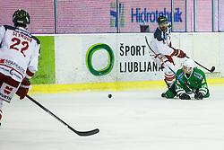 Ograjensek Tim of Olimpija during ice hockey match between HDD Olimpija Ljubljana and HC Bolzano in EBEL league, on Januar 9th, 2017 in Hala Tivoli, Ljubljana, Slovenia. Photo by Grega Valancic / Sportida