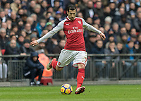 Football - 2017 / 2018 Premier League - Tottenham Hotspur vs. Arsenal<br /> <br /> Henrikh Mikhitaryan (Arsenal FC) who had a quiet game at Wembley Stadium.<br /> <br /> COLORSPORT/DANIEL BEARHAM