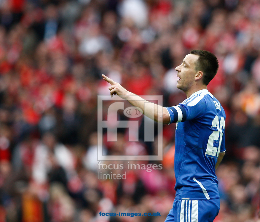 Picture by Andrew Tobin/Focus Images Ltd. 07710 761829. 5/5/12. John Terry of Chelsea controls the game during the FA Cup Final between Chelsea and Liverpool at Wembley Stadium, London