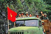 soldiers, Vietnam near Son La