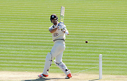 Surrey's Kevin Pietersen pulls the ball. - Photo mandatory by-line: Harry Trump/JMP - Mobile: 07966 386802 - 22/04/15 - SPORT - CRICKET - LVCC County Championship - Division 2 - Day 4 - Glamorgan v Surrey - Swalec Stadium, Cardiff, Wales.