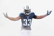 NASHVILLE, TN - NOVEMBER 29:  Michael Griffin #33 of the Tennessee Titans runs onto the field before a game against the Oakland Raiders at Nissan Stadium on November 29, 2015 in Nashville, Tennessee.  The Raiders defeated the Titans 24-21.  (Photo by Wesley Hitt/Getty Images) *** Local Caption *** Michael Griffin