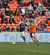 Dundee&rsquo;s Greg Stewart takes on Dundee United's Paul Dixon - Dundee United v Dundee in the Ladbrokes Premiership at Tannadice<br /> <br />  - &copy; David Young - www.davidyoungphoto.co.uk - email: davidyoungphoto@gmail.com