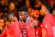 LUBBOCK, TX - JANUARY 13: Norense Odiase #32 of the Texas Tech Red Raiders takes the court during player introductions before the game against the West Virginia Mountaineers on January 13, 2018 at United Supermarket Arena in Lubbock, Texas. Texas Tech defeated West Virginia 72-71. (Photo by John Weast/Getty Images) *** Local Caption *** Norense Odiase