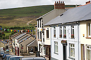 Broad Street in Blaenavon World Heritage town, Torfaen, Monmouthshire, South Wales, UK