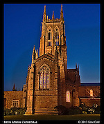 Cathedral Blue Hour<br /> Bryn Athyn Cathedral<br /> June 2013